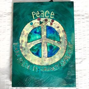 Painted Peace by Stephanie Burgess Wallhanging Art